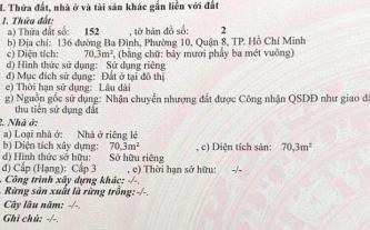 Bán nhà mặt tiền số 136 Ba Đình, Q.8, TP.HCM