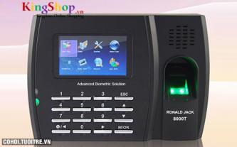 Máy chấm công vân tay và thẻ cảm ứng Ronald Jack 8000T