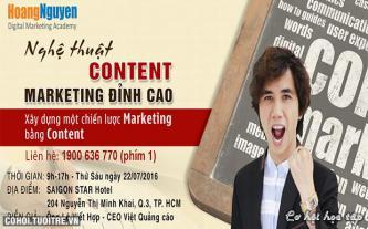 Khóa học Nghệ thuật Content Marketing đỉnh cao