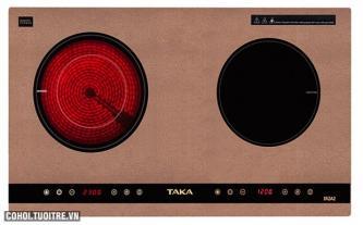 Bếp đôi hồng ngoại - điện từ Taka TK-IR2A2