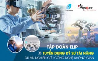 Tập đoàn Elip tuyển kỹ sư tài năng cho dự án công nghệ hàng không