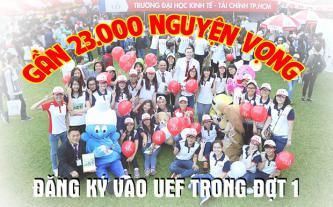 Gần 23.000 nguyện vọng đăng ký vào UEF trong đợt 1