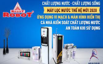 Máy lọc nước ROBOT ứng dụng vi mạch & màn hình LCD kiểm soát nước lọc