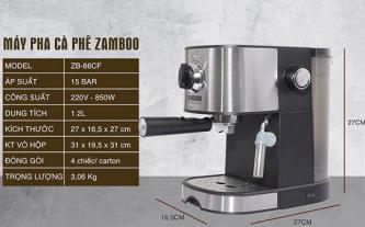 Máy pha cà phê Zamboo ZB-88CF