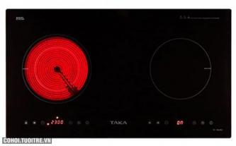 Bếp đôi hồng ngoại - điện từ Taka TK-IR02B2