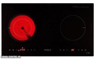 Bếp đôi hồng ngoại - điện từ Taka TK-IR02C2