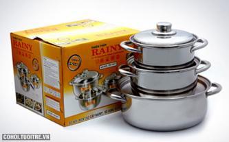Bộ 3 nồi 3 đáy Rainy RN-06H
