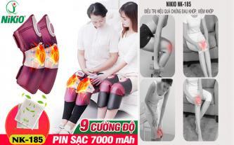 Máy massage đầu gối pin sạc, rung và nóng Nikio NK-185