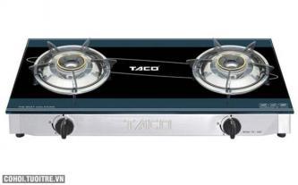 Bếp gas Taco TC 55D, khung inox chén đồng