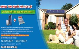 Lắp pin năng lượng, cơ hội vàng sở hữu máy nước nóng