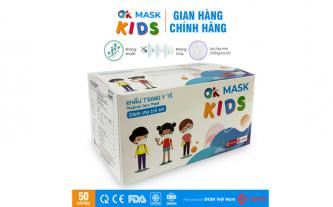 Khẩu trang y tế trẻ em 3 lớp OK MASK KIDS Nam Anh, hộp 50 cái