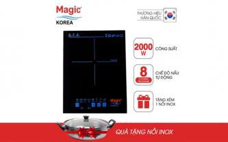 Bếp từ kèm nồi inox Magic Korea A46 - Hàng chính hãng