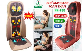 Ghế massage hồng ngoại xoa bóp day ấn rung 4D Nikio NK-180