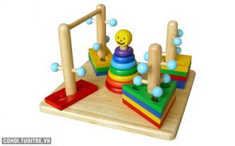 Bộ trò chơi Đường luồn lý thú bằng gỗ Winwintoys 65072
