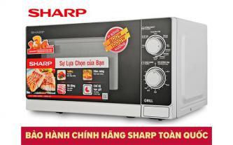 Xả kho lò vi sóng có nướng Sharp R-G222VN-S giá từ 1,485 triệu