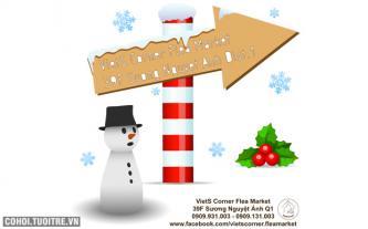 Chào tháng 12! Mua sắm cuối năm cực rẻ tại VietS Corner Flea Market