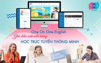 One On One English ghi dấu với nền tảng học trực tuyến thông minh