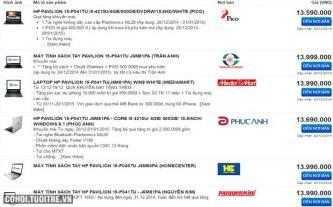 Quảng bá sản phẩm trên website so sánh giá