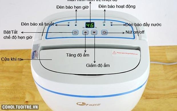 Máy hút ẩm phòng ngủ, văn phòng, gia đình FujiE HM-614EB