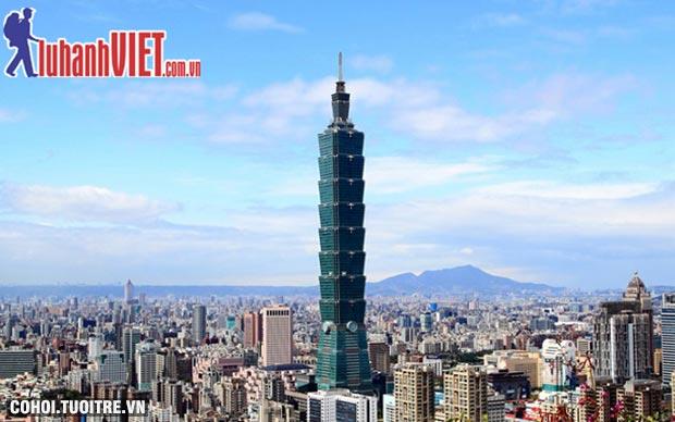 Tour Đài Loan 5N trọn gói, giá sốc 7,9 triệu