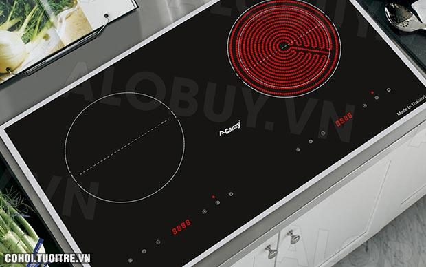 Bếp từ đôi hồng ngoại 2 lò cảm ứng Canzy CZ-65BS
