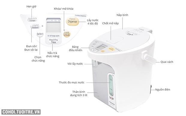 Bình thủy điện Panasonic PABT-NC-HU301PHSY