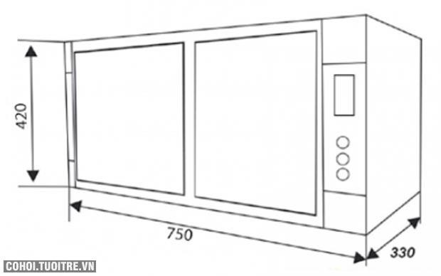 Máy sấy, tủ sấy chén bát đĩa Canzy CZ 68SR
