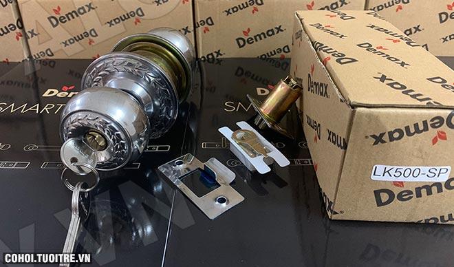 Xả kho khóa cửa tay nắm tròn Demax LK500 SP giá 145.000đ