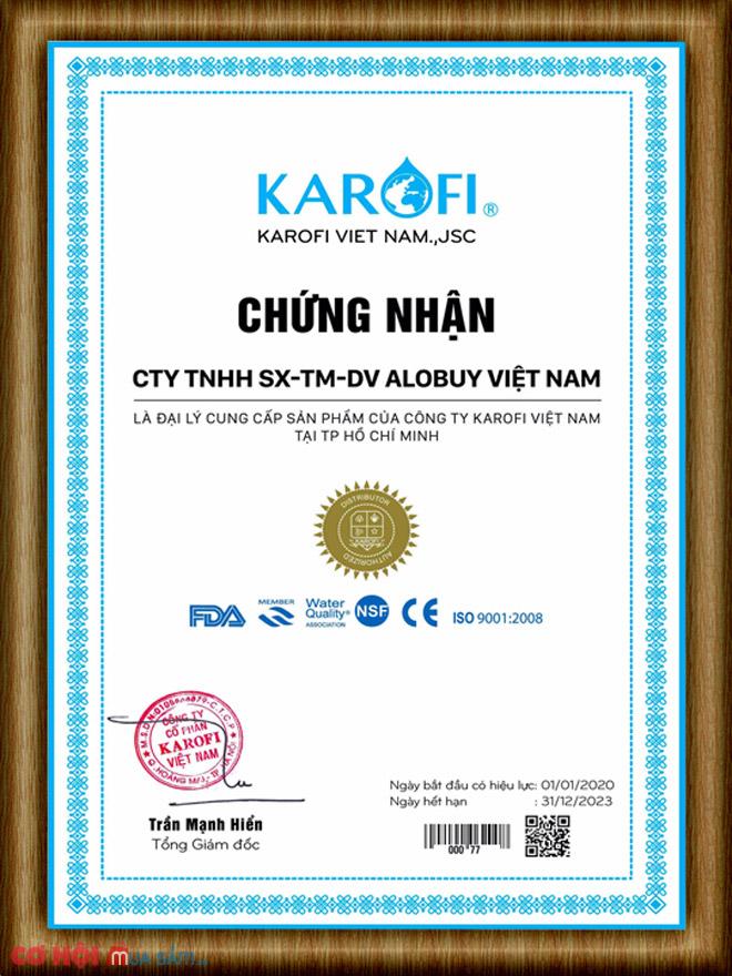 Thay lõi lọc nước Số 8 máy RO KAROFI - Hồng ngoại FAR INFRARED