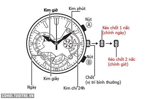 Hướng dẫn sử dụng đồng hồ Casio Edifice
