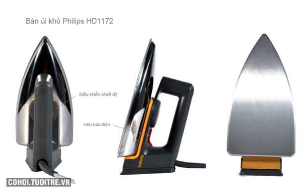 Bàn ủi khô Philips HD 1172