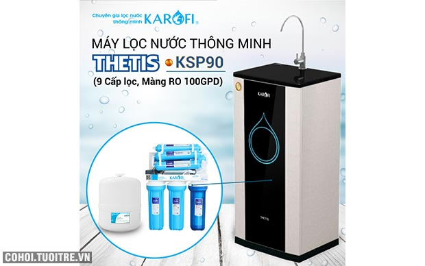 Máy lọc nước RO KAROFI THETIS KSP90 (9 cấp lọc, lõi Hydrogen)