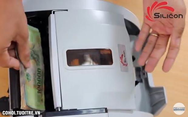Máy đếm tiền phát hiện tiền siêu giả Silicon MC-9900N
