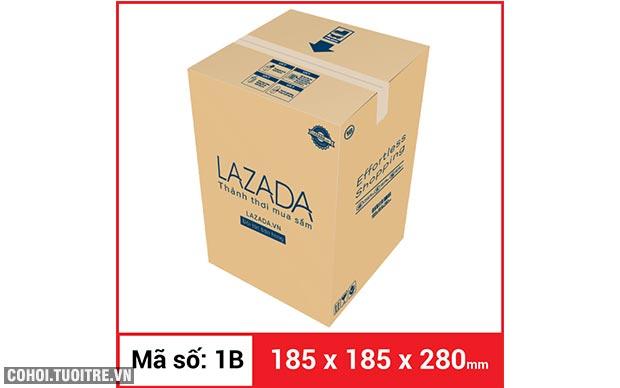 Thùng carton gói hàng kích thước 185 x 185 x 280mm