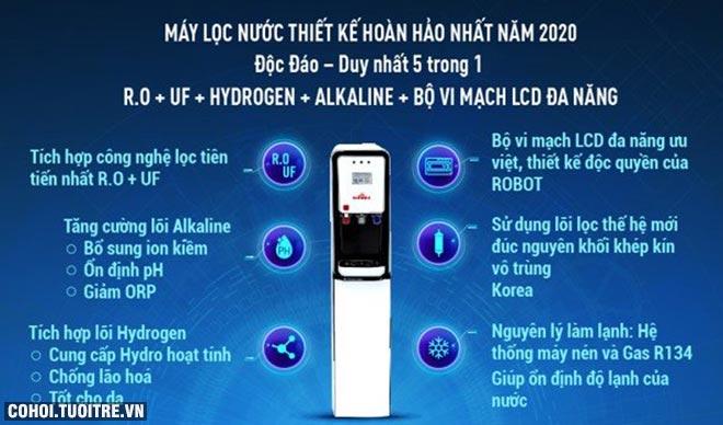 Ứng dụng công nghệ cao, vi mạch và màn hình giúp kiểm soát nước lọc