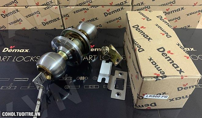 Xả kho khóa cửa tay nắm tròn Demax LK800 PB giá 195.000đ