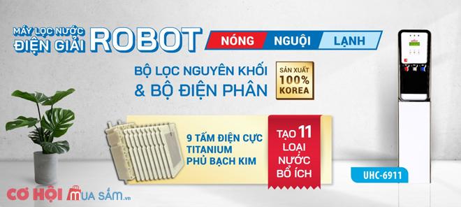 Giá ra mắt 100 máy ion kiềm nóng lạnh, 9 tấm điện cực Korea