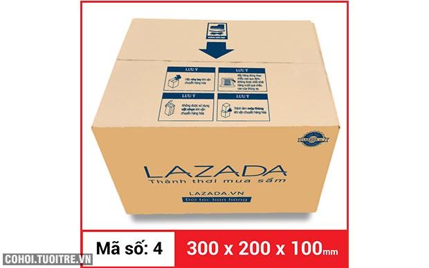 Thùng carton gói hàng kích thước 300 x 200 x 100mm