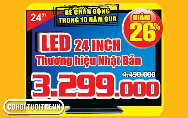 Tivi LED 24inch thương hiệu Nhật Bản