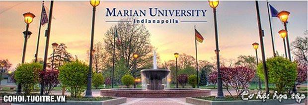 Cơ hội học bổng 100% tại trường Marian University, Indianapolis, Mỹ