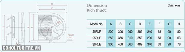 Quạt thông gió gắn tường KDK 25RLF