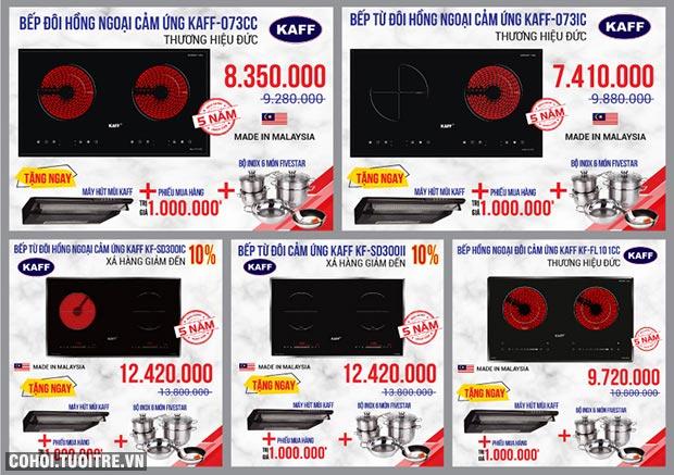 Bếp điện từ KAFF nhập khẩu Malaysia, Germany