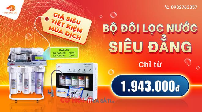 Máy lọc nước thế hệ mới cho nhà bếp, siêu tiết kiệm chỉ từ 1.943.000đ
