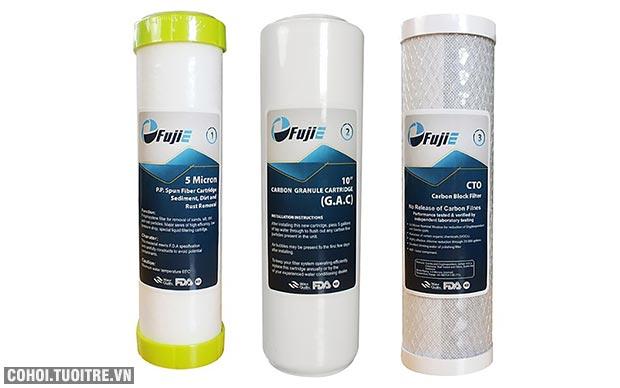 Bộ 3 lõi lọc nước RO số 1, 2, 3 FujiE
