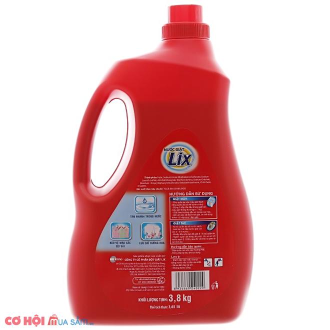 Xả kho nước giặt Lix đậm đặc 3.8kg khuyến mãi lần 2