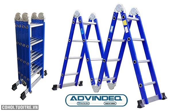 Thang nhôm gấp rút gọn đa năng 4 đoạn Advindeq ADM104