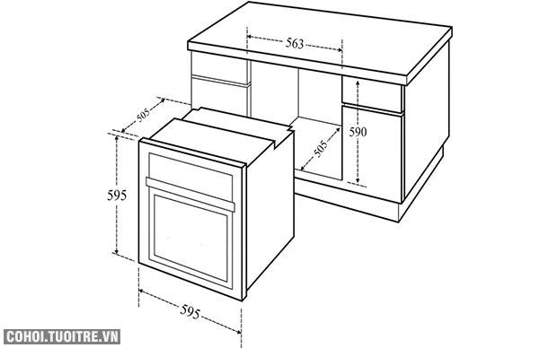 Lò nướng âm tủ Canzy CZ-805DP