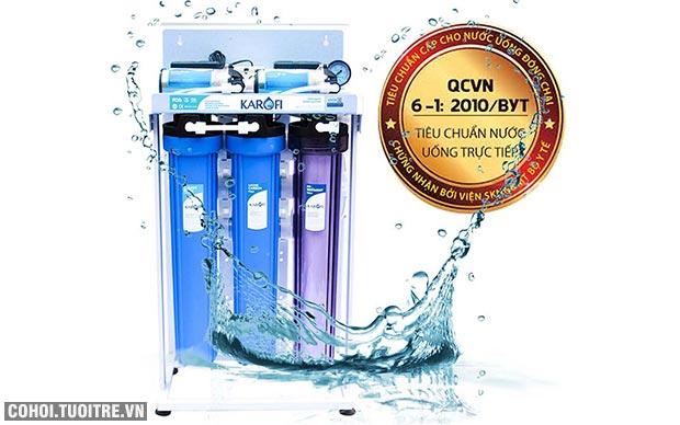Máy lọc nước bán công nghiệp KAROFI KT-KB80, lọc được 80 lít