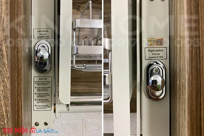 Tìm hiểu giá bát đĩa nâng hạ INOX 304 Eurogold EVI170