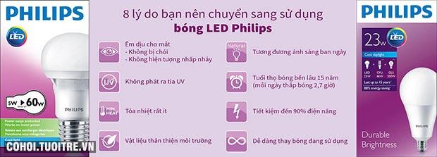 Đèn LED Bulb Philips Ecobright 5-60W E27 3000K A60